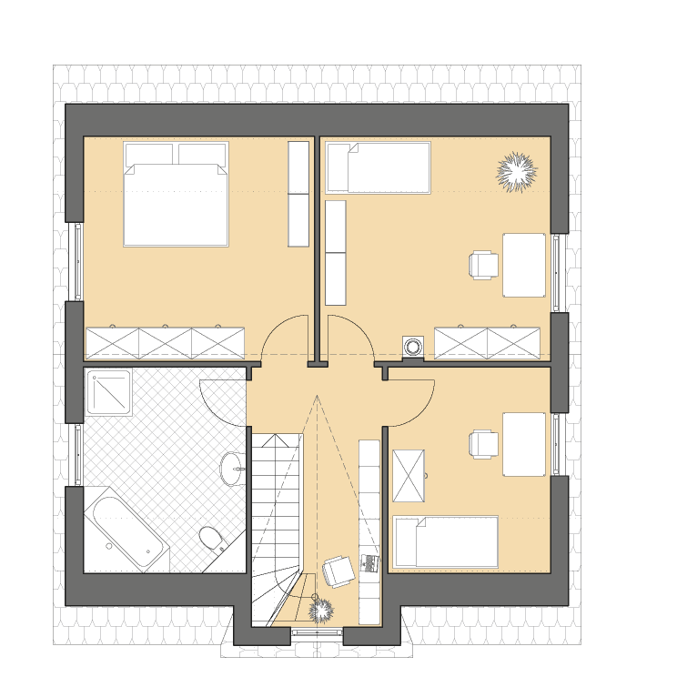 Einfamilienhäuser | Friesenhaus 145, Grundriss Dachgeschoss