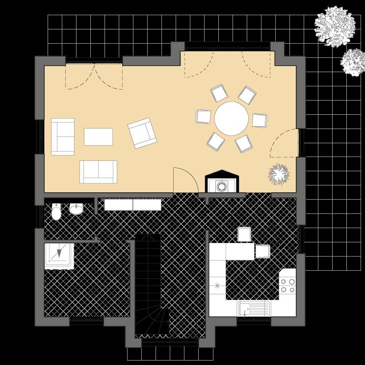 Einfamilienhäuser | Friesenhaus 145, Grundriss Erdgeschoss