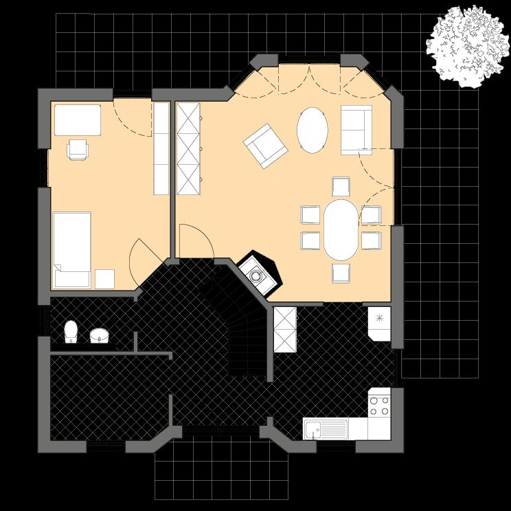 Einfamilienhäuser | Haus Schwerin, Grundriss Erdgeschoss