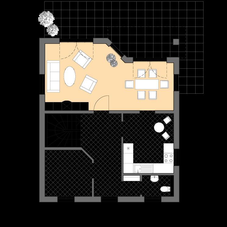 Einfamilienhäuser | Haus Wismar, Grundriss Erdgeschoss
