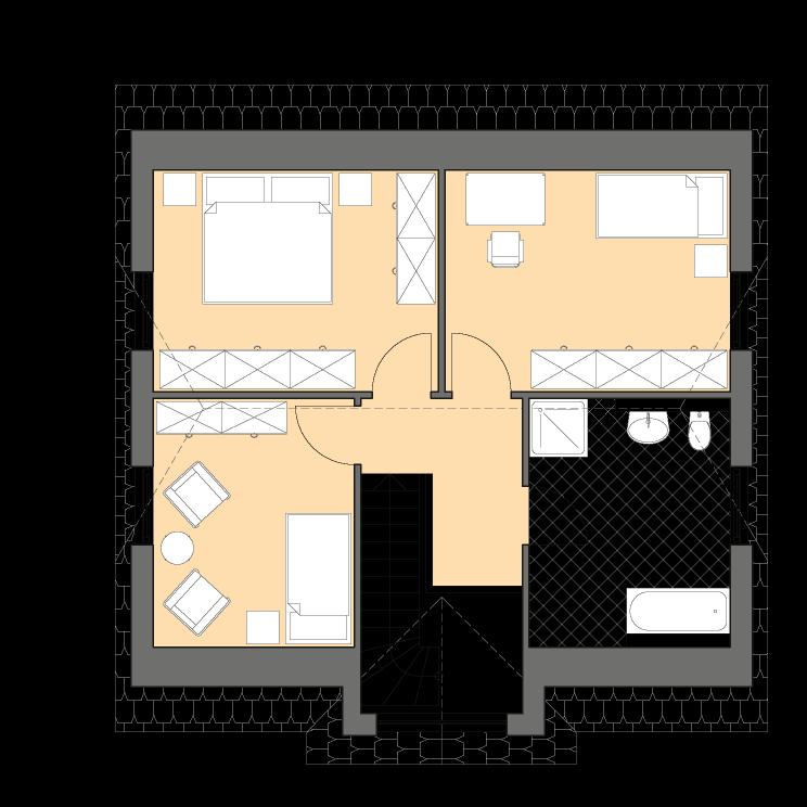 Einfamilienhäuser | Landhaus 124, Grundriss Dachgeschoss