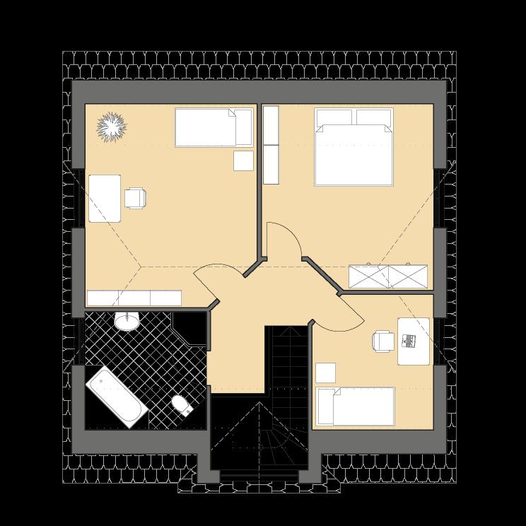 Einfamilienhäuser | Landhaus 142, Grundriss Dachgeschoss