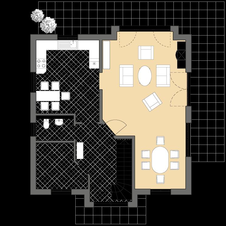 Einfamilienhäuser | Landhaus 142, Grundriss Erdgeschoss
