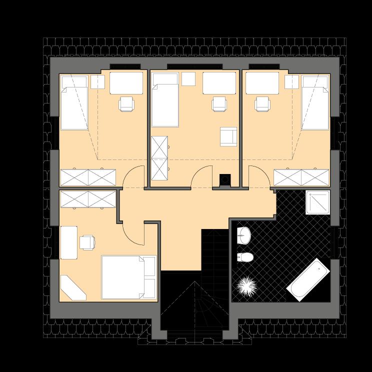Einfamilienhäuser | Landhaus 156, Grundriss Dachgeschoss