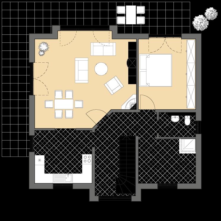 Einfamilienhäuser | Landhaus 156, Grundriss Erdgeschoss