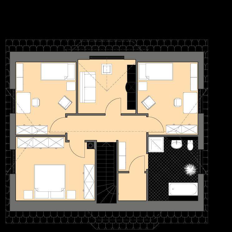 Einfamilienhäuser | Landhaus 161, Grundriss Dachgeschoss