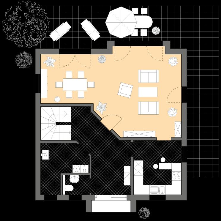Einfamilienhäuser | Stadthaus 141, Grundriss Erdgeschoss