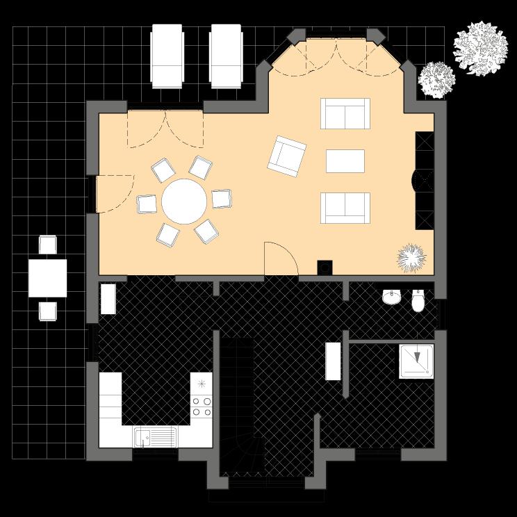 Einfamilienhäuser | Turmhaus 152, Grundriss Erdgeschoss