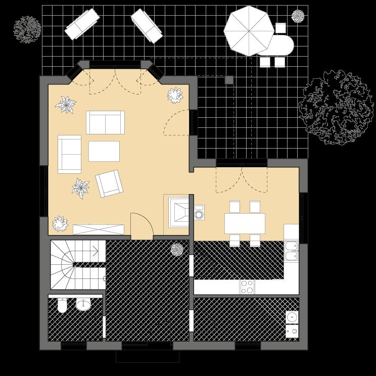 Exklusive Häuser | Haus Rügen, Grundriss Erdgeschoss, 15_06