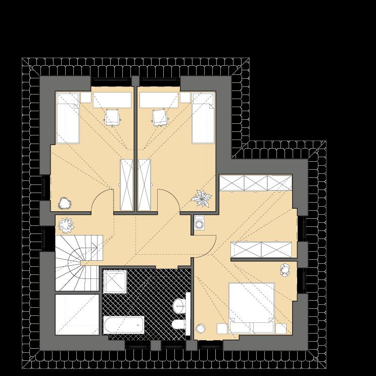 Exklusive Häuser | Haus Rügen, Grundriss Obergeschoss, 15_06