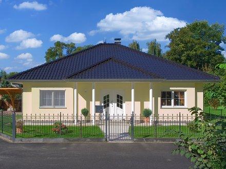 Bungalows | Bungalow Zingst (Putzfassade), Hauseingang