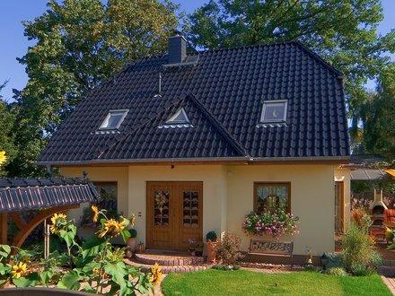 Einfamilienhäuser | Landhaus 142 (Putzfassade, Hauseingang 2)