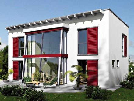 Moderne Häuser | Cubatur 155 (Putzfassade), Variante mit Wintergarten