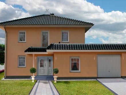 Stadtvillen | Villa Verona (Putzfassade), Frontalansicht Hauseingang