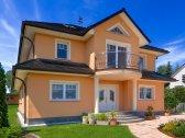 Stadtvillen | Villa Ravenna (Putzfassade), Schrägansicht Grundstücksfront