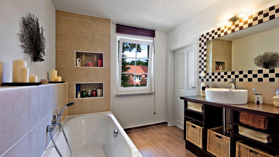 Einfamilienhäuser | Friesenhaus (Innenaufnahme: Bad)