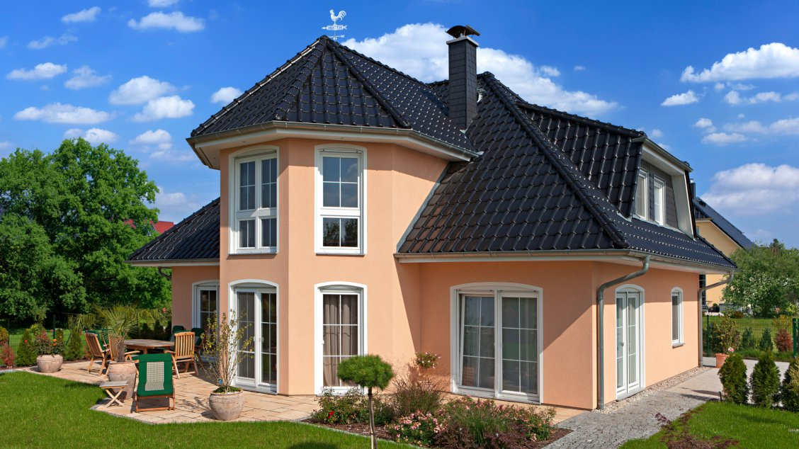 Einfamilienhäuser | Turmhaus 199 (Putzfassade), Gartenimpression