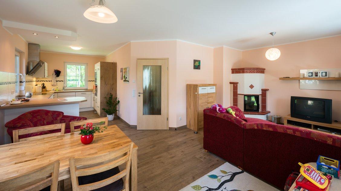 Mehrfamilienhäuser | Doppelhaus, offener Wohn-/Kochbereich