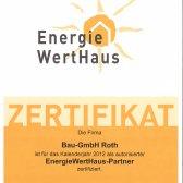 Roth-Massivhaus | EnergieWertHaus, Zertifikat