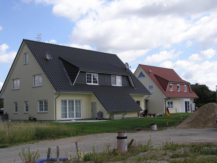 Mehrfamilienhäuser | Doppelhaus, Rückseite