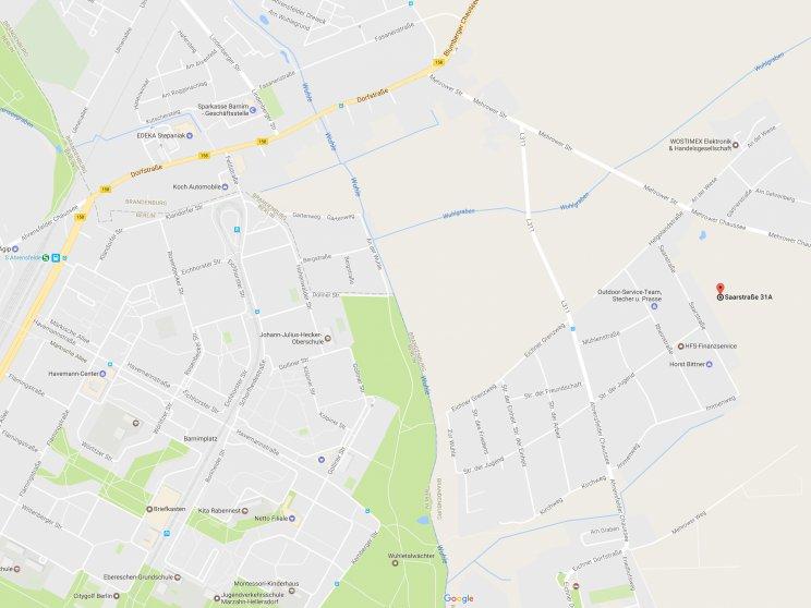 Grundstücksangebot   Karte Anfahrt Mehrower Spitze Retina