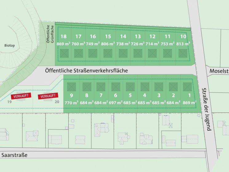 Grundstücksangebot   Teilungsplan Mehrower Spitze Retina
