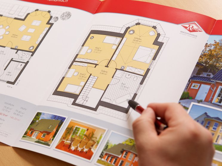Roth-Massivhaus | Grundriss aus Katalog