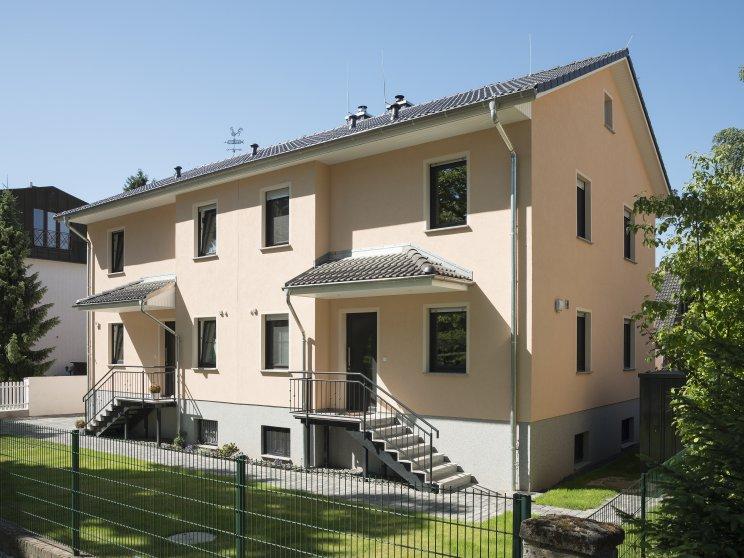 Mehrfamilienhäuser | Doppelhaus, Frontansicht