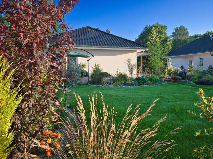 Bungalows | Bungalow Ahlbeck (Putzfassade), Garten Bungalowsiedlung