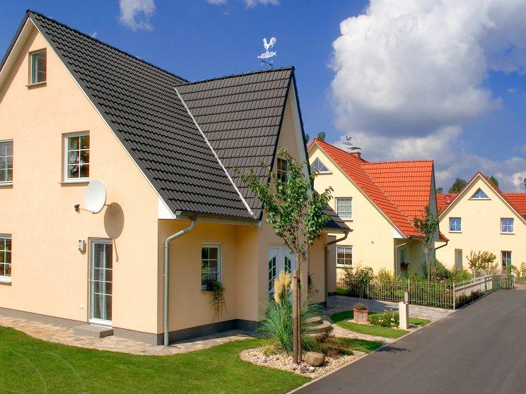 Einfamilienhäuser | Friesenhäuser (Häusersiedlung, Seitenansicht)