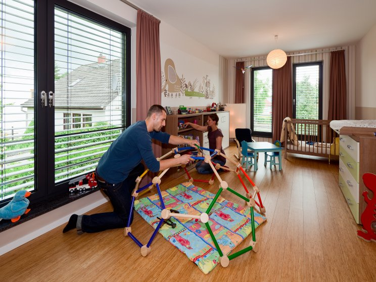 Moderne Häuser | Cubatur (Freie Planung, Putzfassade), Innenansicht Kinderzimmer