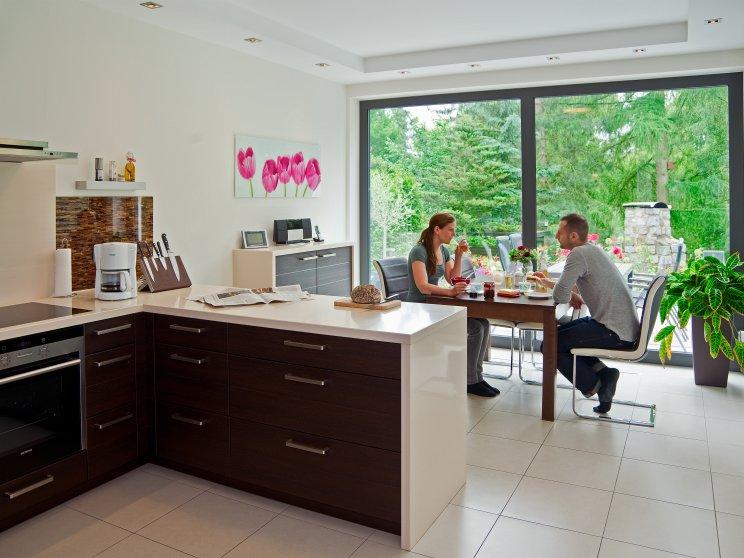 Moderne Häuser | Cubatur (Freie Planung, Putzfassade), Innenansicht Küche