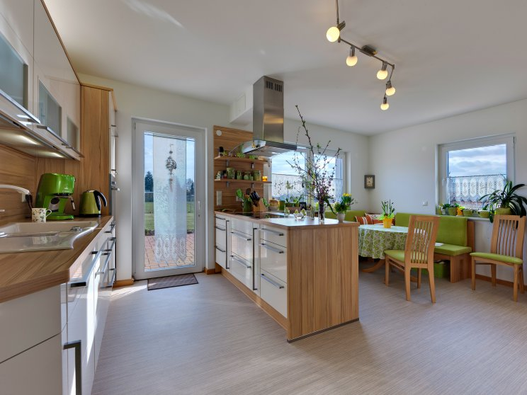 Mehrfamilienhäuser | Freie Planung, Innenansicht Küche