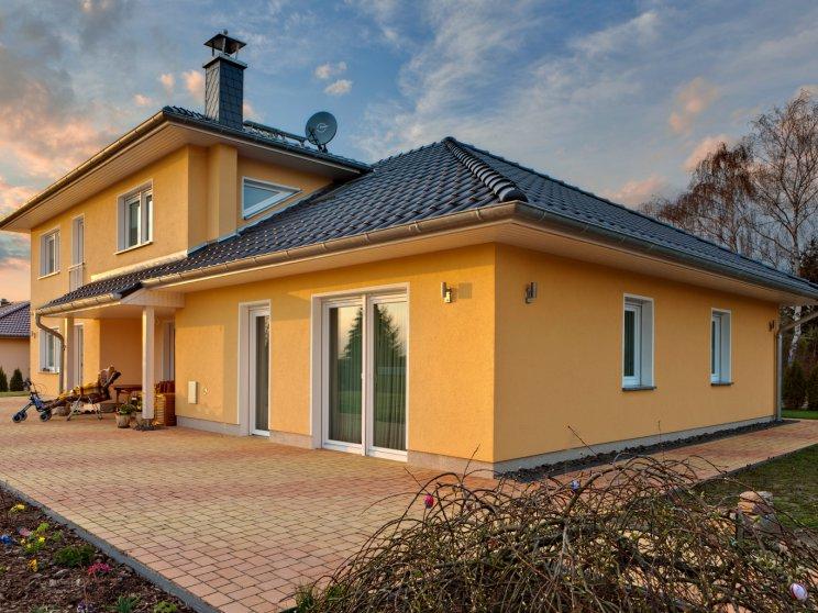 Mehrfamilienhäuser | Freie Planung (Putzfassade), Terrassenansicht