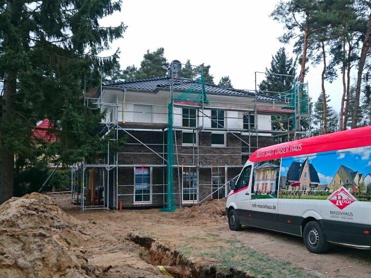 Stadtvillen | Villa Lugana, Rückseite eingerüstet