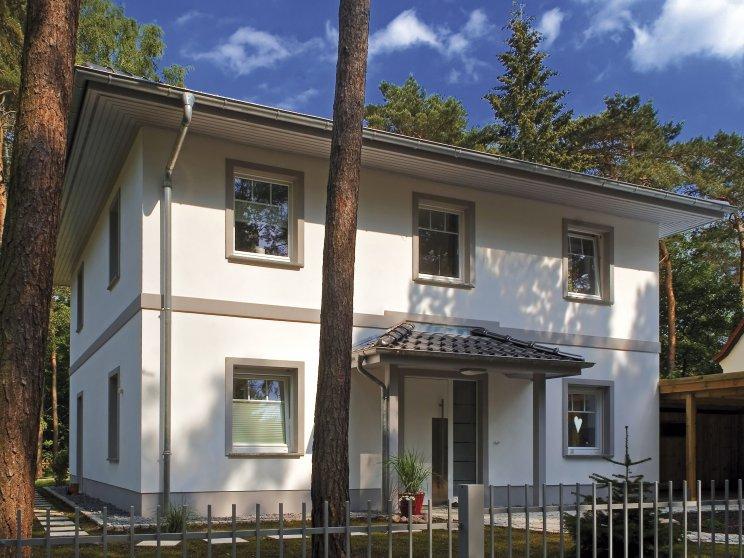 Stadtvillen | Villa Lugana (Putzfassade), Hauseingang