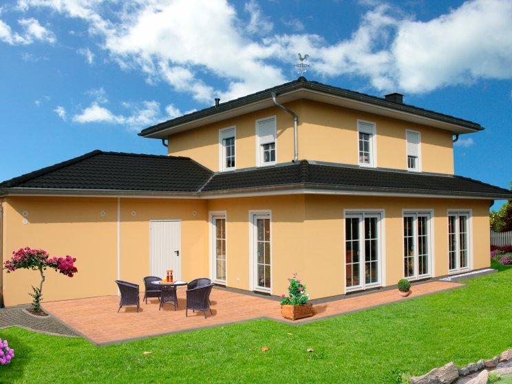 Stadtvillen | Villa Meran (Putzfassade), Schrägansicht Terrasse