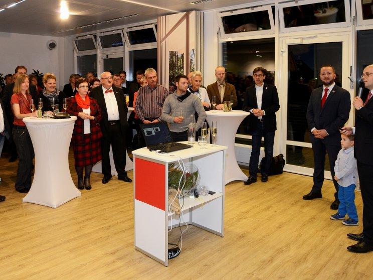 Roth-Massivhaus | Eröffnung neues Kundenzentrum Hamburg | Enrico Roth spricht zu den Gästen