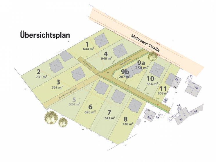Roth Massivhaus | Grundstücke: Lageplan Ahrensfelde Mehrower